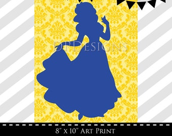 Snow White Silhouette Wall Art - INSTANT DOWNLOAD