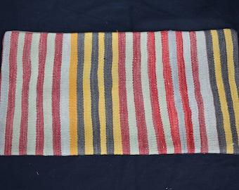 striped  kilim pillow lumbar kilim pillow bohamian kilim pillow turkish handmade kilim pillow sofa pillow bed pillow İnsert pillow P-18