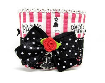 Cuff Bracelet on the theme of Paris and the little black dress