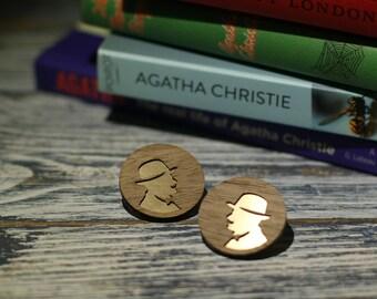 Readers earrings: Poirot