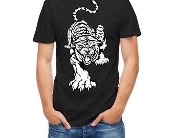 T-shirt Wild Cat Tiger Aggressive 24246