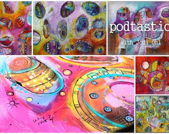 Pod-Tastic Online Workshop E-Course - Abstract Painting Class using Acrylic Paint by Jodi Ohl