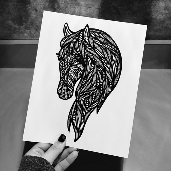 Zentangle - Horse