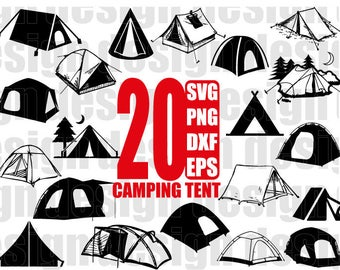 TENT SVG Camping Tent Svg Lake Mountain Scout
