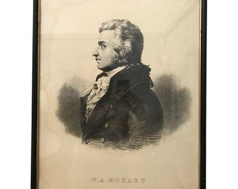 Framed W.A. Mozart Print