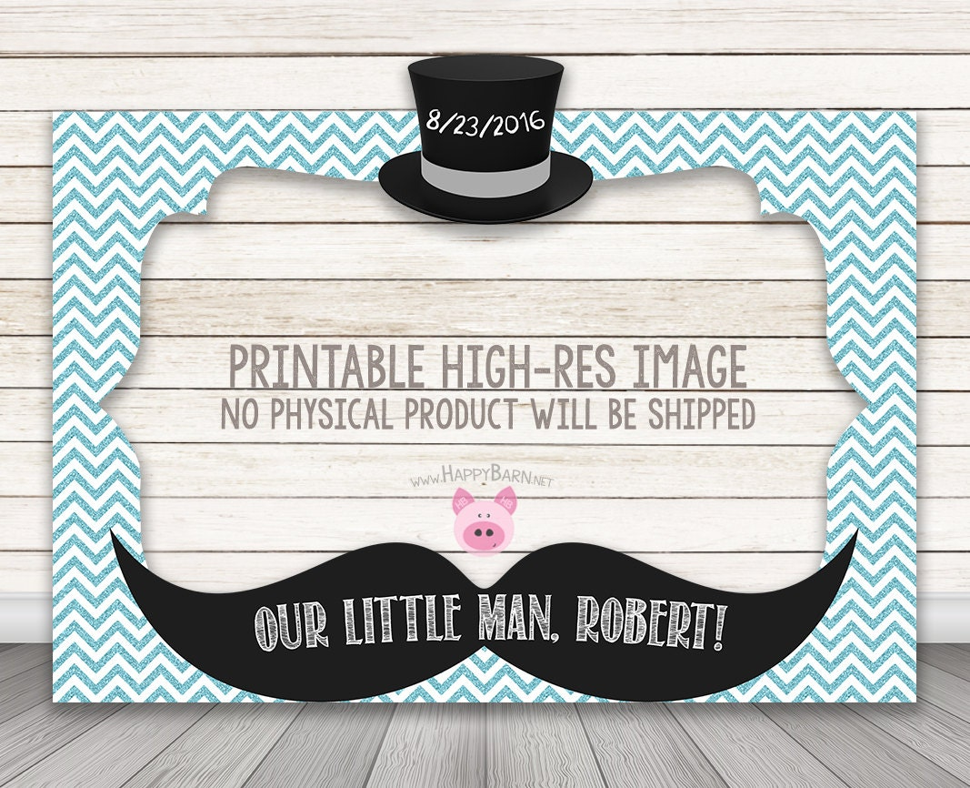 PRINTABLE Little Man Baby Shower or birthday party photo booth