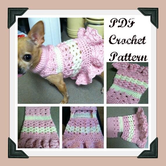 PDF Crochet Pattern Littlest Bo Peep Crochet Dog Dress