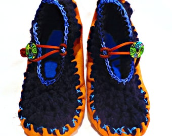 Hippie Shoes Leather Moccasins Spring Summer Fall Womens Mary Jane Style  Festival Clothing Hippie Clothes Fairy Shoes Hippie Clothing Boho