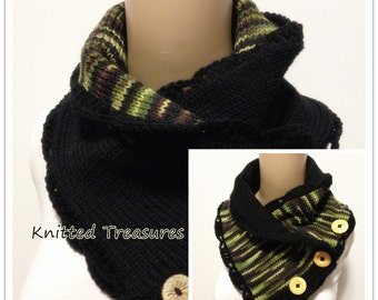 One Only Wool Reversible Thick Soft Neckwarmer Not Itchy
