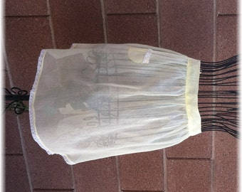 YELLOW SHEER APRON   - Any Size