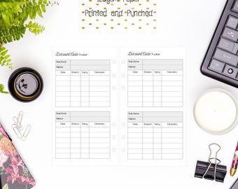 Personal Discount Code Tracker Inserts for Personal Filofax | Medium Kikki K | Colour Crush and Equivalent Planners