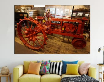 Vintage Tractor Canvas Print wall art Farmall Tractor canvas print Tractor Picture Wall Split Art Multi Panel old tractor Canvas print