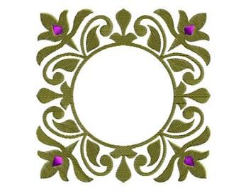 Victorian frame machine embroidery design--1235