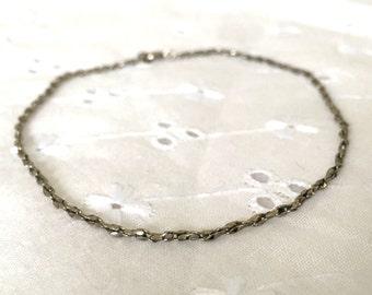 Dainty Vintage Silver Tone Large Link Bracelet or Anklet