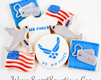 Half Dz. Air Force Cookies! Military, USAF, Favors, Retirement and More!