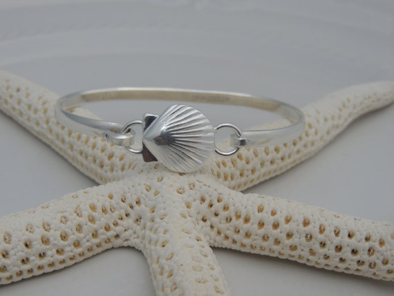 Cape Cod Style Convertible Bracelet   Sterling Silver Nautical Cuff Bracelet    Sand Dollar, Sea Shell, Starfish Or Flip Flop
