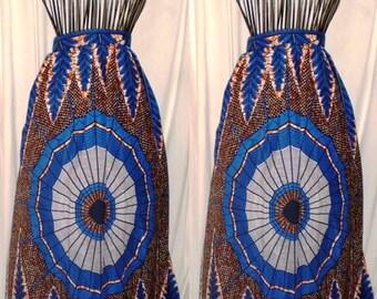 READY TO SHIP Medium Ananse A Line Maxi Skirt with Pockets