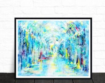 Abstract art print, colourful wall art, modern art, wall art, original art, fine art prints, contemporary art, abstract painting, art prints