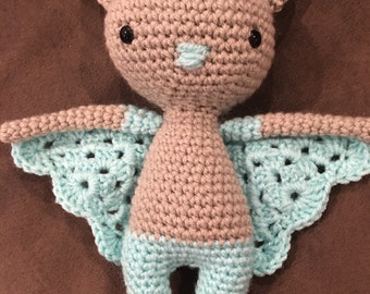 Custom Crochet Stuffed Bat Friend