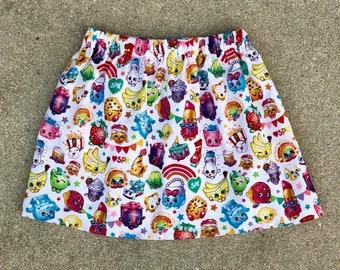 Shopkins Skirt, Shopkins, Character Skirt, Shopkin Skirt, Baby Girl Skirt, Toddler Girls Skirt, Toddler Skirt, Girls Skirt, Twirl Skirt
