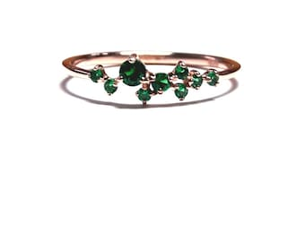 oliveavenuejewelry emerald emrald engagement halo rings pin by ring