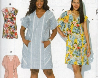 Learn to Sew McCall's Pattern 7712 PANELED DRESSES Misses Sizes Xsm Sm Med Lrg Xlrg 4-22