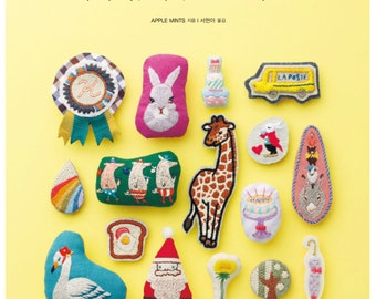 100 Small Cute Embroidery Brooch Patterns -  Craft Book
