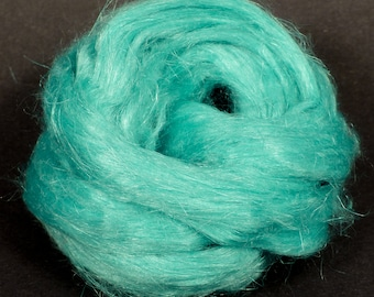 100% Dyed Flax combed top - Marine - (2 oz.)