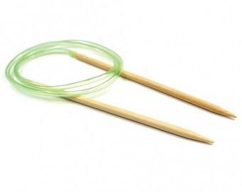 """Knitca 32"""" circular bamboo Knitting Needles"""