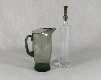 Martini Pitcher & Tall Decanter