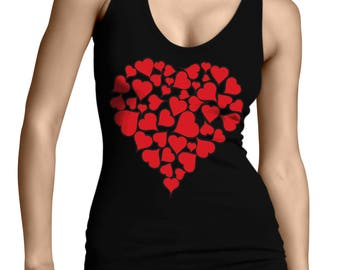 Heart Of Hearts Valentines Day Love Holiday Gift Idea Romance Romantic Present Juniors Womens Tank Top SF-0445