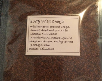 100% Wild Harvested Ground Chaga