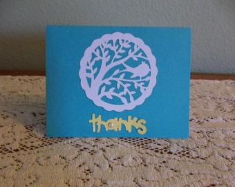 Set of 5 Thank You Notecards in Various Colors-limited edition