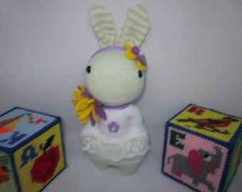 Rabbit, Bunny, Sock Rabbit, Bunny Rabbit, Baby Shower Gift, Rabbit, Rabbit Plushie, Mother's Day Gift, Birthday Gift, OOAK Rabbit