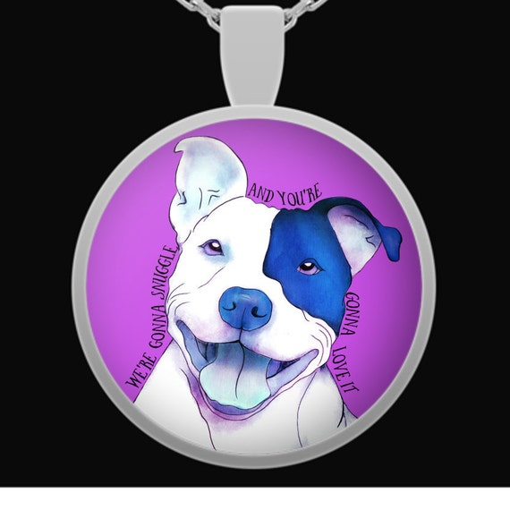 Happy pitbull pendant great gift for pit bull lovers or any like this item aloadofball Gallery