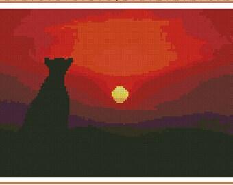 Cross stitch chart Safari Lion AN-003 nature