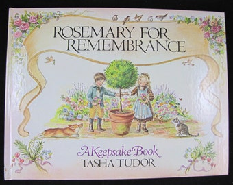 Rosemary for Remembrance  // 1981 Tasha Tudor Book of Days // Calendar Book // w Slipcase // Stated First Edition // 0399208127