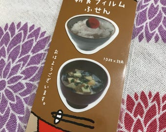 Japanese food shaped film sticky