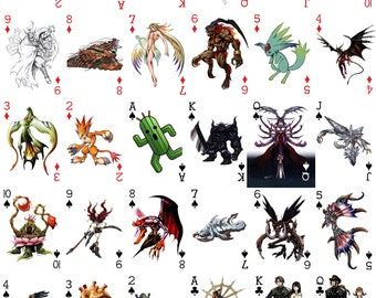 Final Fantasy 8 Themed Playing Card Deck (54 Cards)