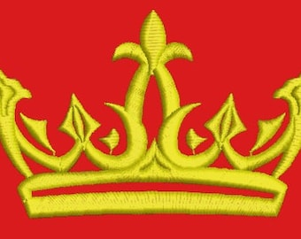 crown embroidery design, 4 sizes -   180mm (7.2 Inch), 130 mm (5.2Inch) ,  100 mm (4 Inch) , 60mm (2.4 Inch)/