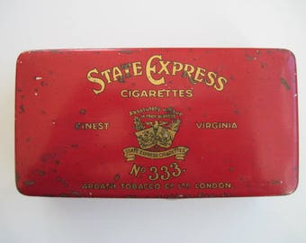 State Express no 333 cigarette tin (50) by Ardath c.1920/30