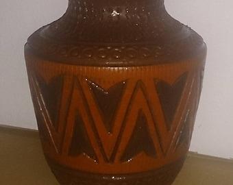 Retro vase + Brown + Deco + Vintage + ceramic vase +