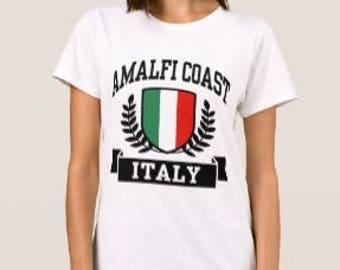 AMALFI COAST Italy beach ladies tee