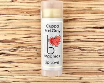 NEW! // Cuppa Earl Grey // Organic Lip Balm // tea lovers