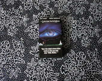Stephen King's Lawnmower Man VHS Tape. Rare 90s Horror Movie Classic VHS. Stephen King's Virtual Reality Horror Thriller