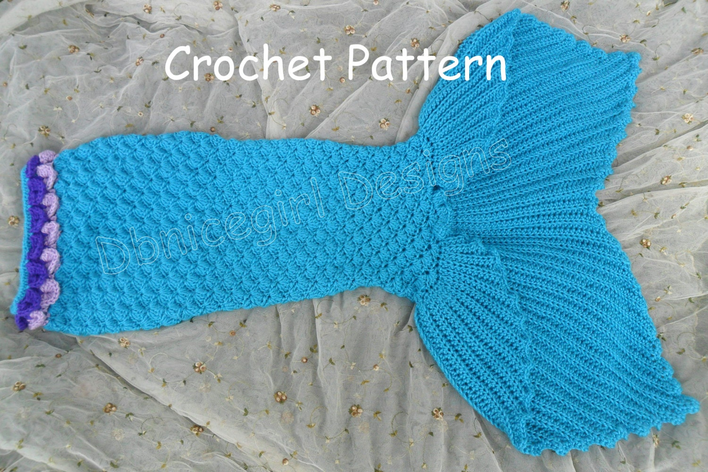 Mermaid Skirt Costume Crochet Pattern Child Sizes from ...