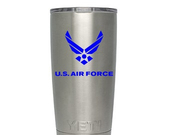 U.S. Air Force Vinyl Decal, USAF Logo Sticker, United States Military, Airman