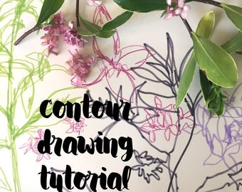 Contour Drawing Tutorial (Digital Product - HD Video)