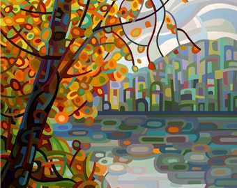 Art Print Painting Reproduction Poster Signed  - Reflections