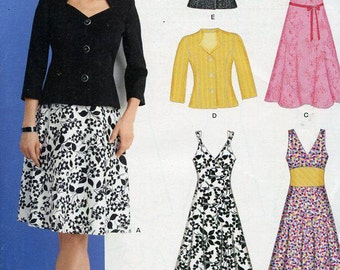 FREE US SHIP New Look 6867 Retro Style Dress Jacket Size 8-18 Out of Print Sewing Pattern Factory Folded Unused